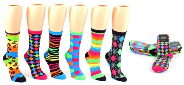 Women Neon Pattern socks