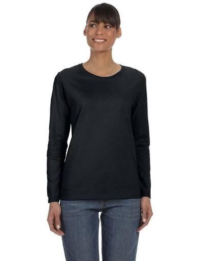 Gildan long sleeve shirt black